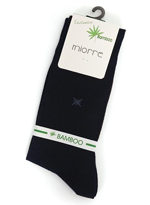 Miorre 2'Li Bambu Çorap Lacivert